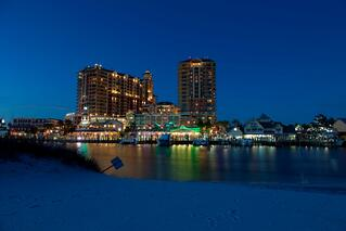 Destin Harbor Boardwalk at Night