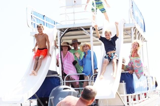 Double-Decker Pontoon Boat Rental