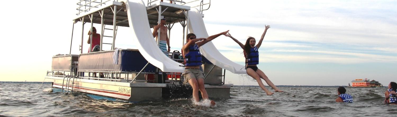 Double-Decker Pontoon Boat Rentals