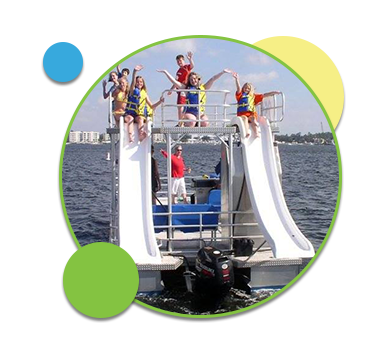 Double-Decker Pontoon Boat Rentals Available at Double Fun Watersports