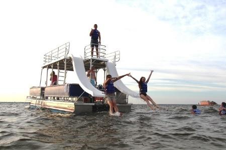 Double-Decker Pontoon Boat In Rental Destin FL